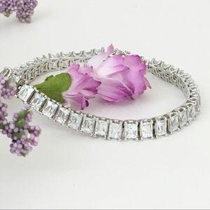Typhoon Emerald Cut Tennis Bracelet